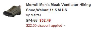 Merrell Men's Moab Ventilator Hiking Boots