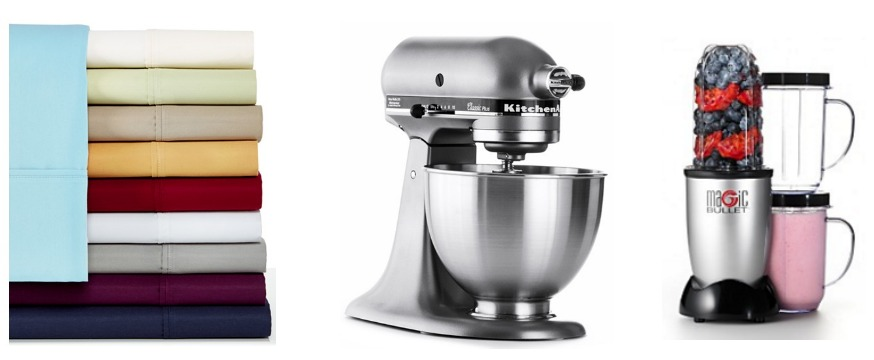 Sheets, Kitchen Aid Stand, Magic Bullet