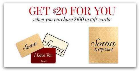 Soma Gift Card offer 2015