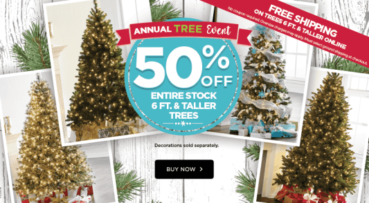 Michaels Christmas Trees.Michaels 50 Off Christmas Trees Free Shipping Hip2save