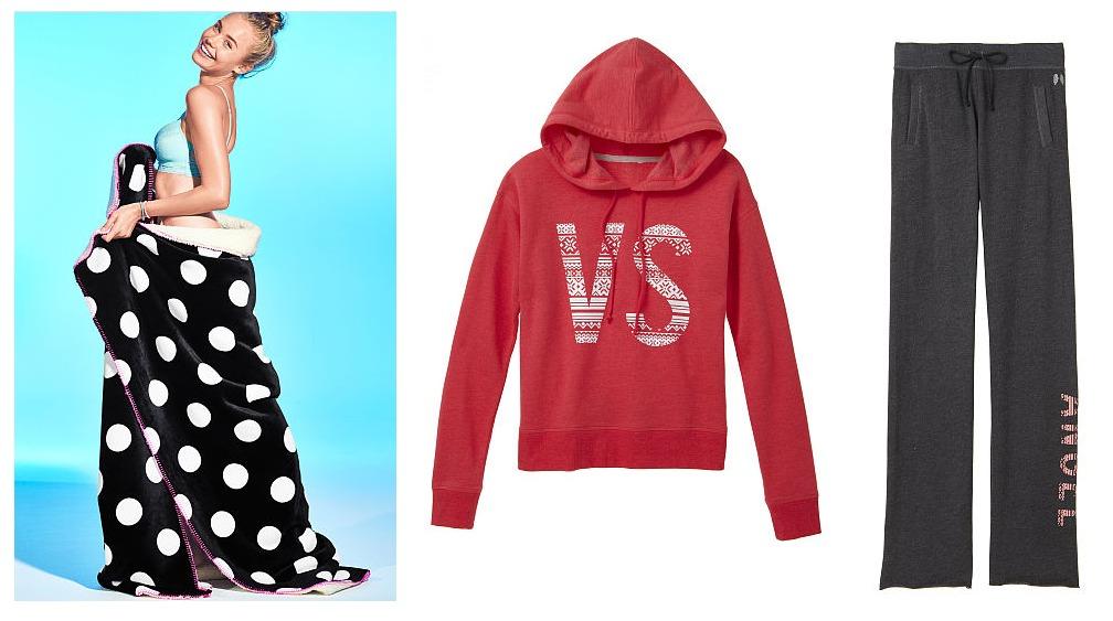 Victoria's Secret Blanket and hoodie