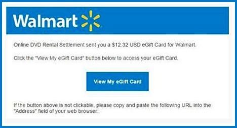 Walmart eGift Card Settlement
