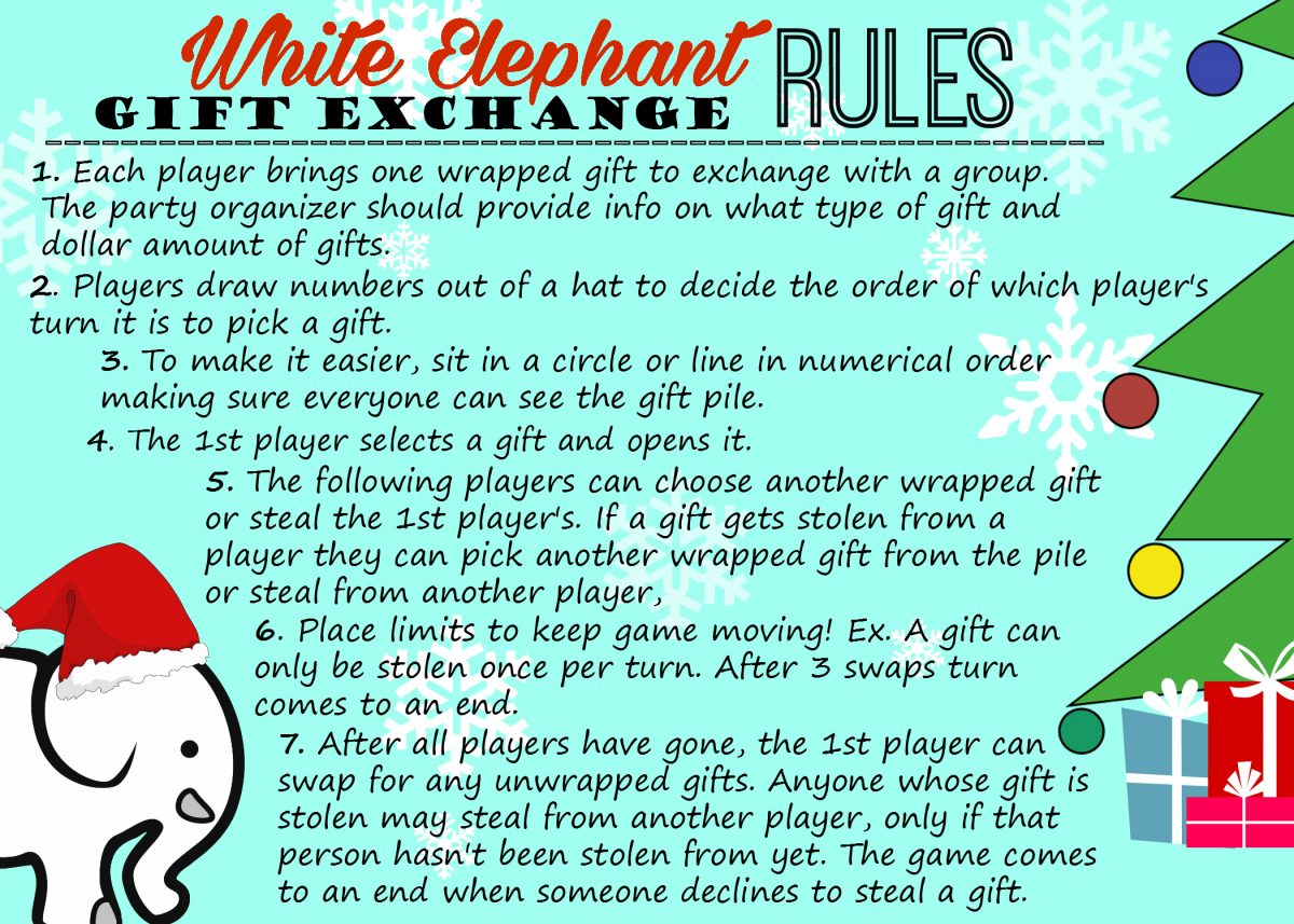 Free White Elephant Gift Exchange Invitations, Rules, & Tips