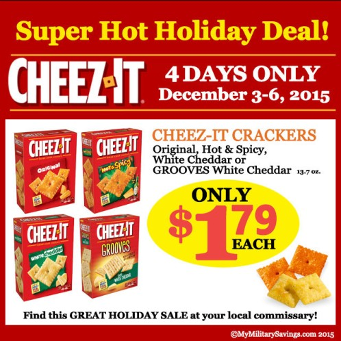 Cheez-It Sale at Commissary