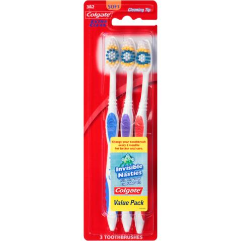 Colgate Extra Clean Toothbrush Value Pack Soft 3 ct. CVS