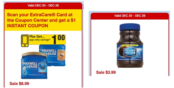 photograph regarding Maxwell House Coupons Printable titled 2 Fresh Maxwell Property Espresso Discount codes + CVS Walgreens Specials