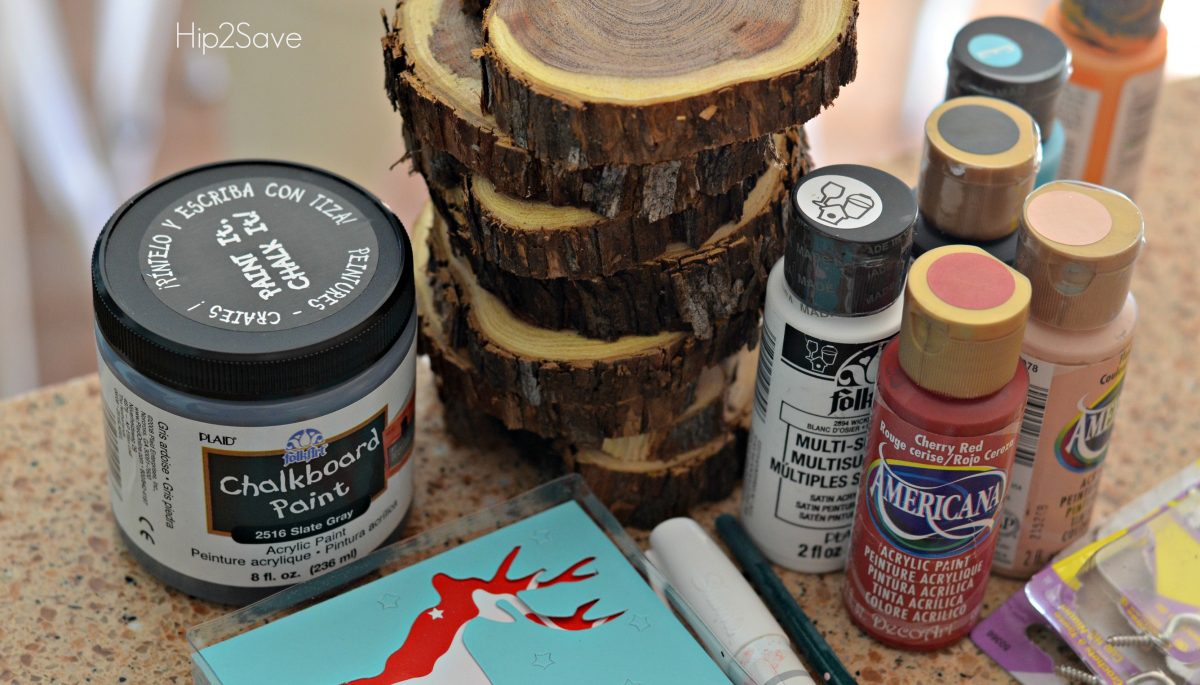 DIY Sliced Wood Ornaments Directions Hip2Save.com