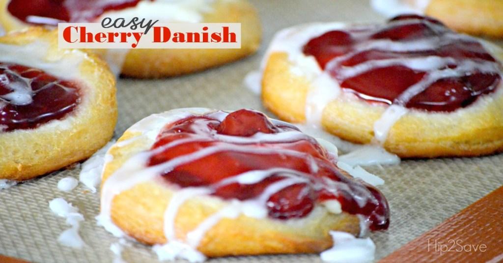Easy Cherry Danish using Pilsbury Biscuits Hip2Save