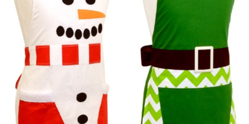 Flirty Aprons: Girl's Holiday Snowman or Elf Apron ONLY $6.98 Shipped (Reg. $19.95)