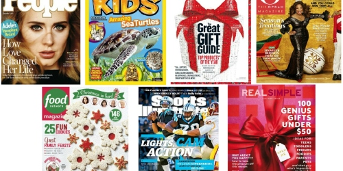 Rarely Discounted Magazine Sale: People, Consumer Reports, O the Oprah Magazine…