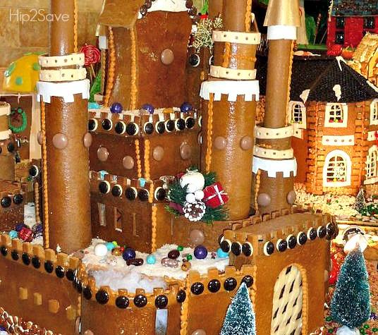 gingerbread castle display