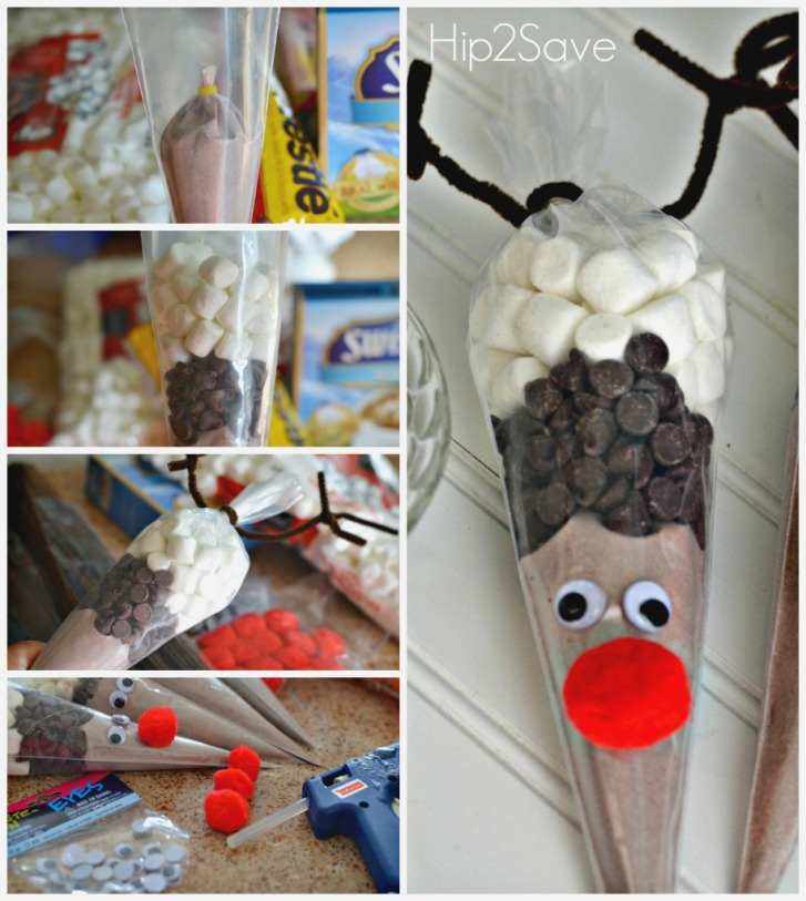 Santa Amp Reindeer Hot Cocoa Cones Easy Holiday Craft