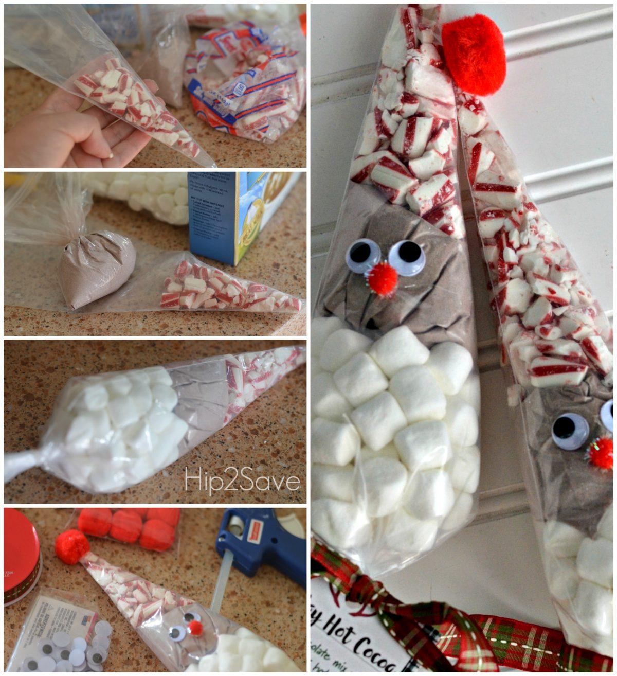 Santa Reindeer Hot Cocoa Cones Easy Holiday Craft Gift Idea