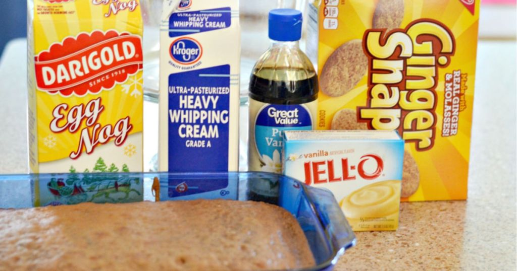 ingredients for gingerbread dessert