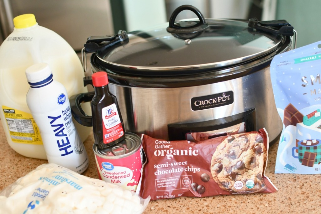 ingredients for slow cooker hot chocolate