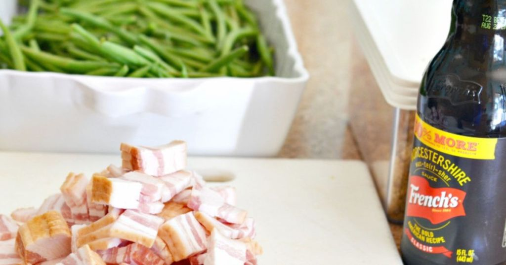making bacon green beans
