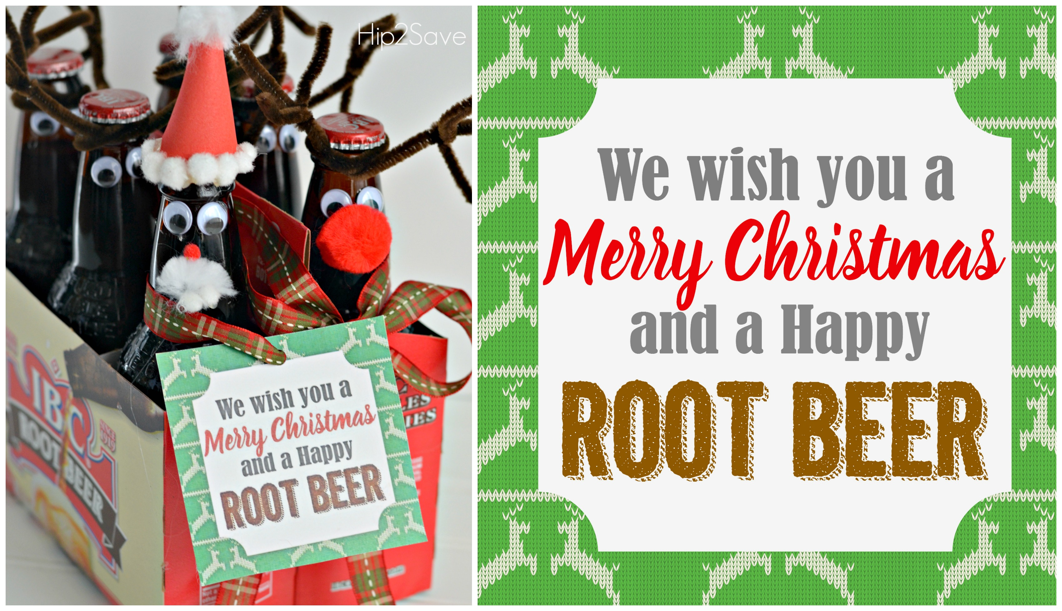 Root Beer Gift Idea with Free Printable Gift Tags