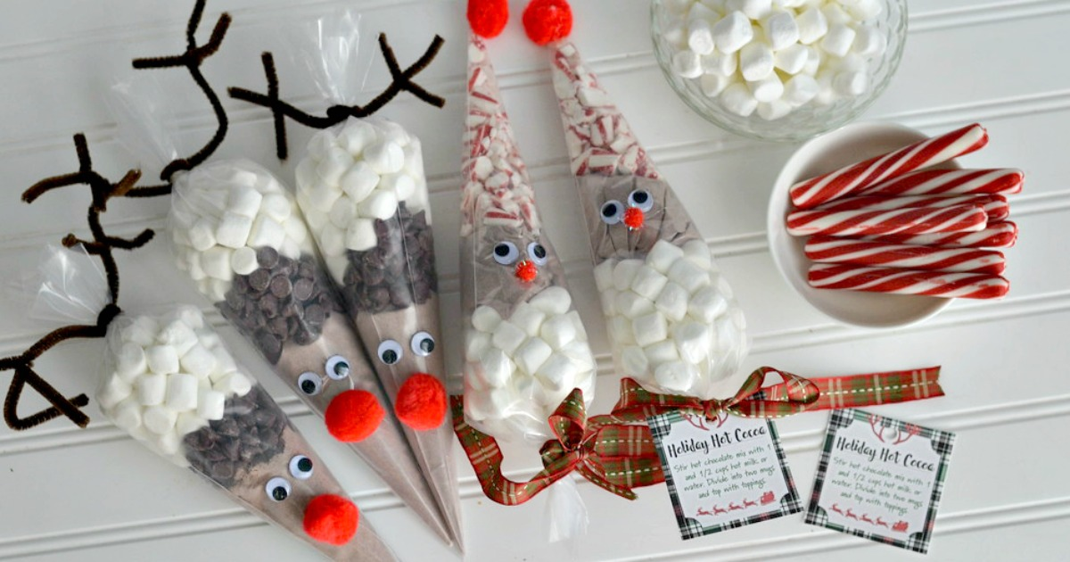 93b86b11e Santa & Reindeer Hot Cocoa Cones (Easy Holiday Craft & Gift Idea ...