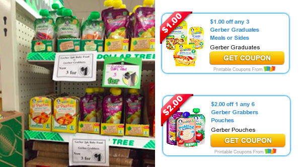 image regarding Printable Dollar Tree Coupons named Greenback Tree: In all probability Totally free Gerber Natural AND Graduates