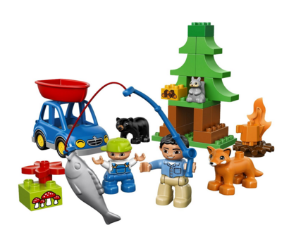 Lego Duplo Forest Fishing Trip Set Only 1499 Regularly 2499