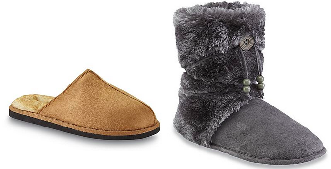 8fdfe1539ae7 Head to Kmart.com where they are offering up to 70% off slippers for the  whole family! Head here to browse their selection. In addition, select shoes  and ...