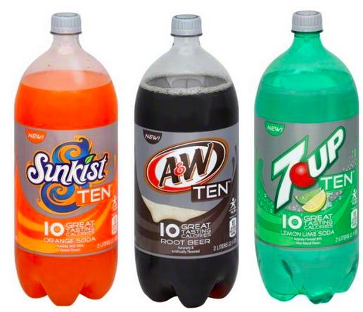 7Up, A&W and Sunkist TEN 2 liter bottles