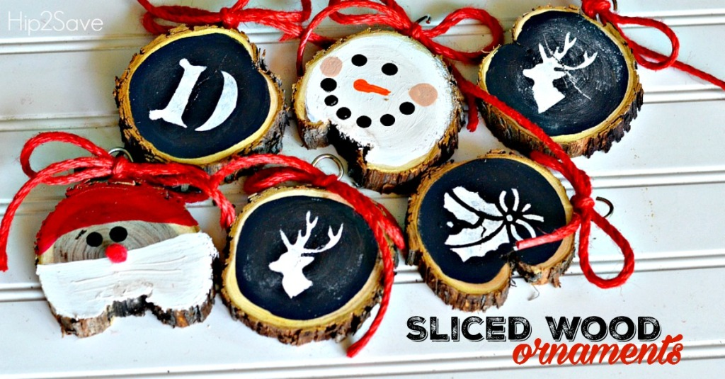DIY Sliced Wood Christmas Ornaments