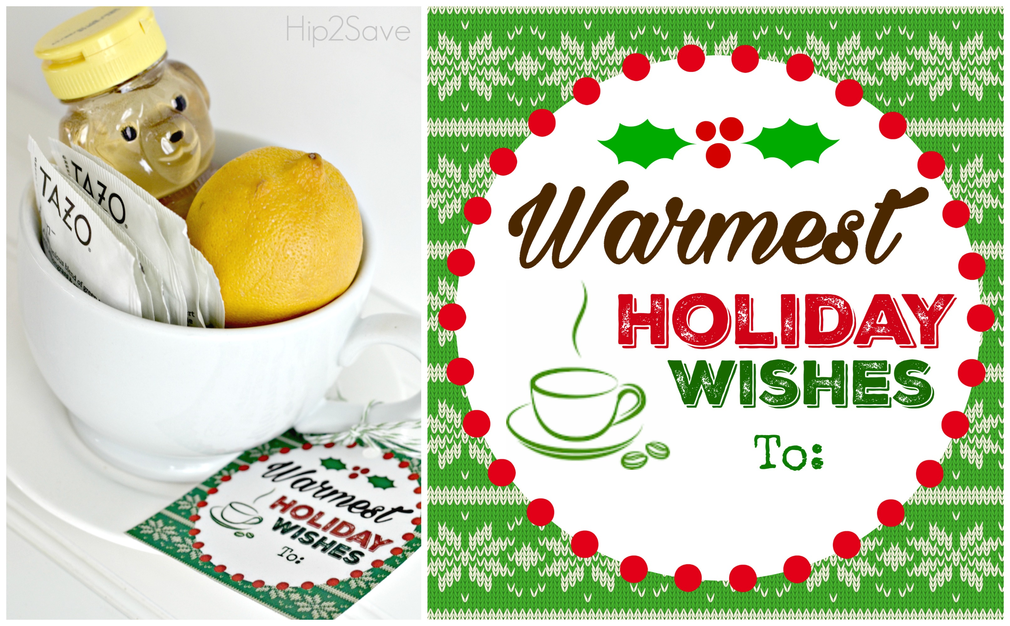 Tea Lover Holiday Gift Idea with Free Printable Tag Hip2Save.com
