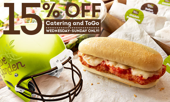 Olive Garden 15 Off To Go Catering Order 10 Bonus Card W 50 Gift Card Purchase Hip2save