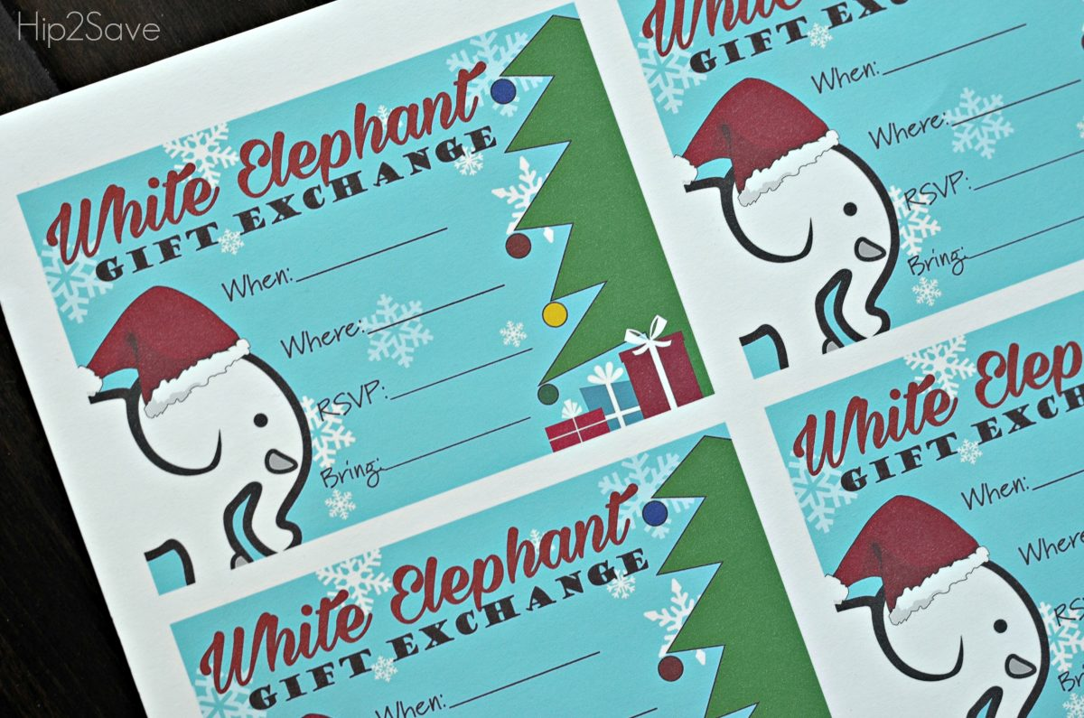 White Elephant Invitations Free Hip2Save.com