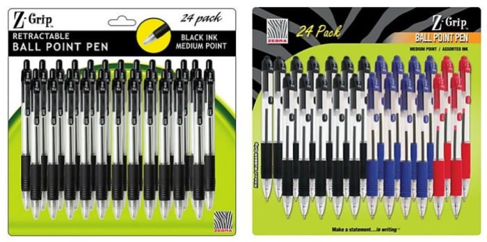office depot officemax zebra retractable pens 24 pack only 2 25