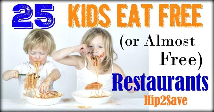 25 Kids Eat Free Restaurants