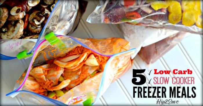 5 Low Carb Recipes for Slow Cooker Freezer Meals Hip2Save.com
