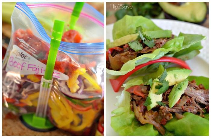 Beef Fajitas Freezer Bag Meal Hip2Save.com
