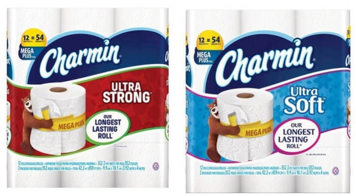 Charmin Ultra Strong and Ultra Soft Mega Plus Rolls