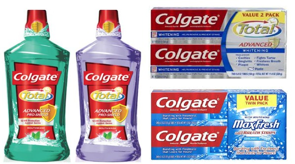 Colgate Mouthwash and toothpaste 2 packs
