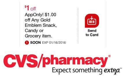 CVS AppOnly Gold Emblem coupon
