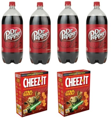 Dr. Pepper and Cheez-It