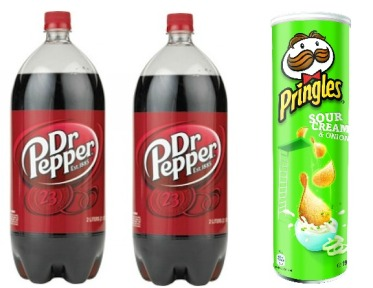 Dr. Pepper and Pringles