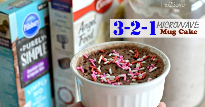 3-2-1 Microwave Mug Cake Recipe