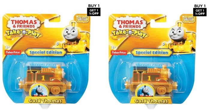 Fisher-Price Thomas & Friends Take-n-Play Special Edition Gold Thomas