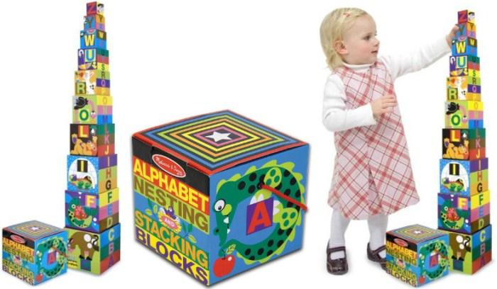 Amazon Melissa Doug Deluxe 10 Piece Alphabet Nesting And