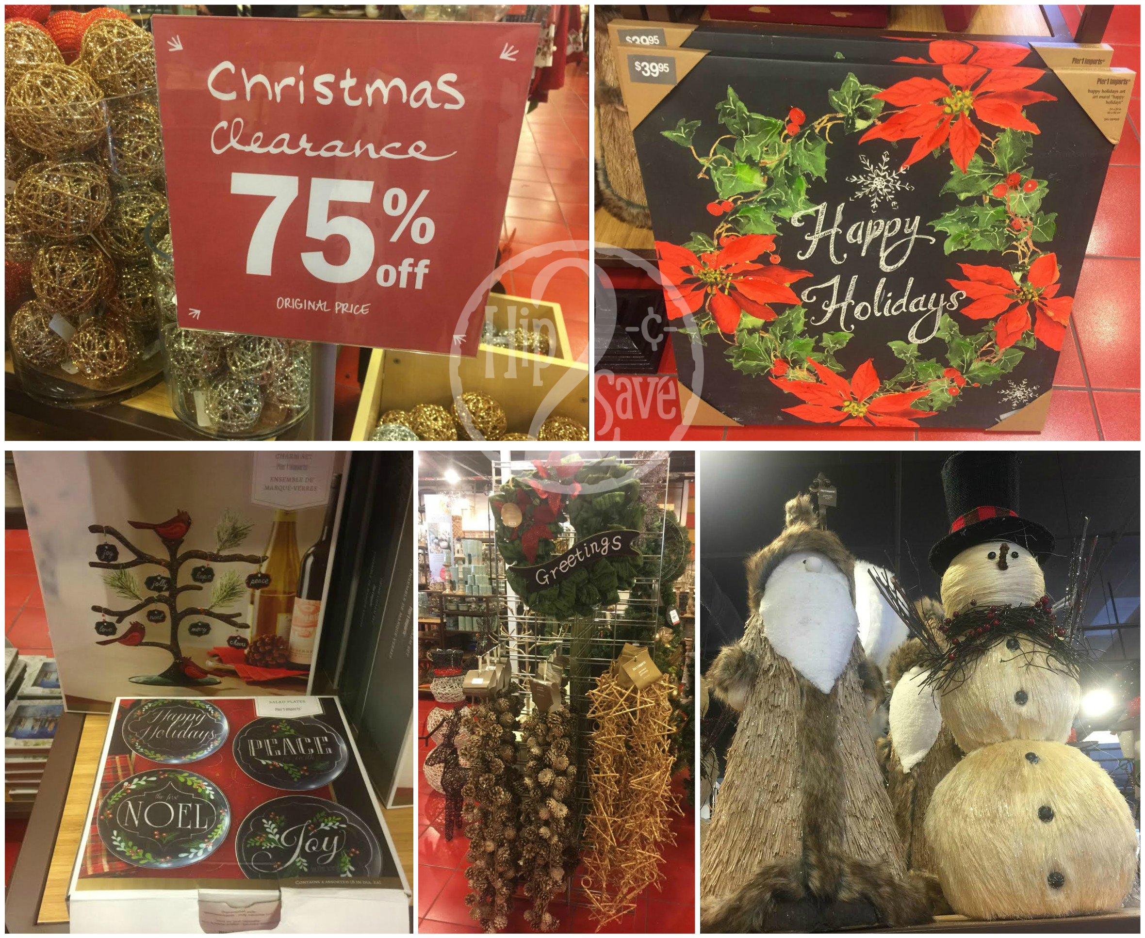 pier 1 imports 75 off christmas clearance in store online hip2save