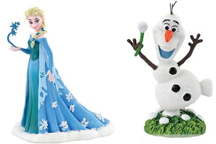 Frozen Elsa and Olaf figurines