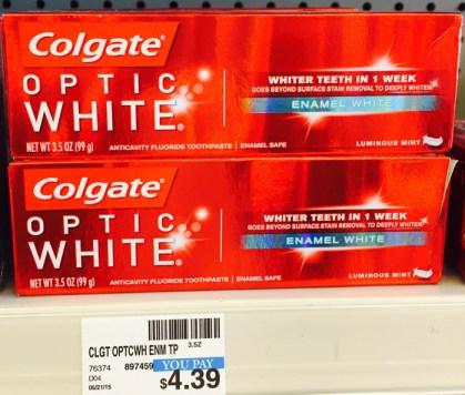 Colgate Optic White toothpaste 3.5 oz. CVS