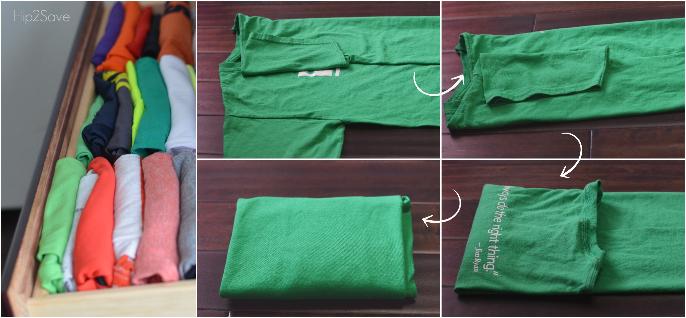 Konmari Style Folding Technique Hip2Save.com