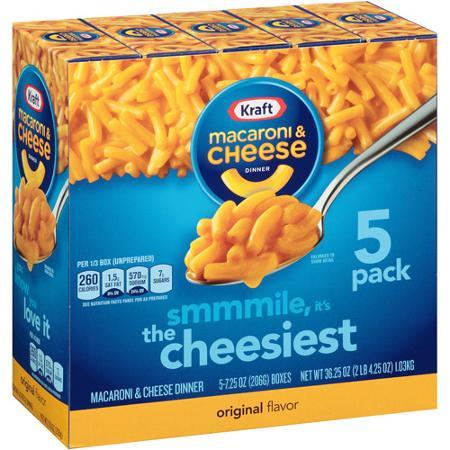 Kraft Macaroni & Cheese 5 pack
