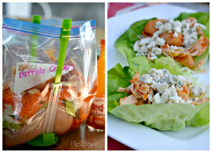 Low Carb Buffalo Chicken Lettuce Wraps Hip2Save.com