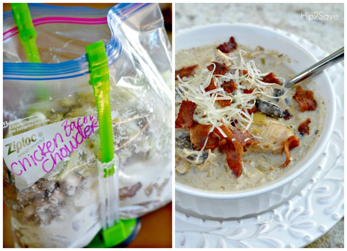 Low Carb Easy Chicken Bacon Chowder Freezer Meal