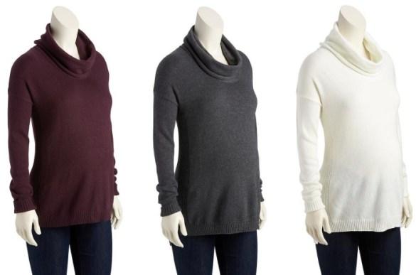 Maternity Cowl-Neck Sweater